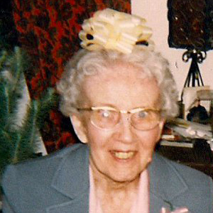 Grama K with bow on her head