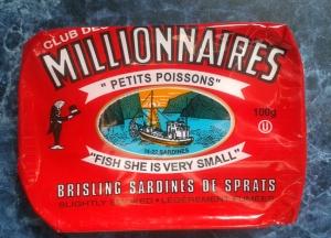 Millionnaire Sardines can