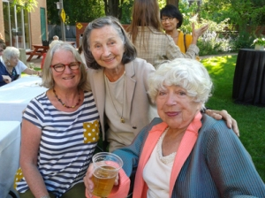 Cyber Seniors movie party Linda Wells, Diana Martin and her sister Shura